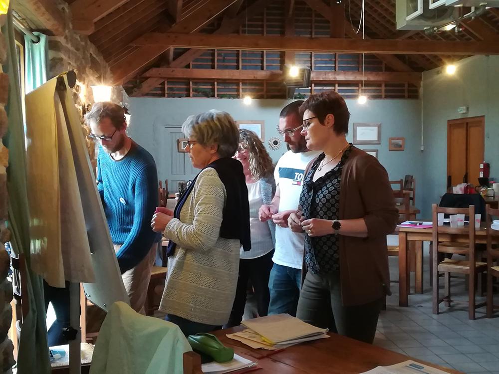 Les membres de la commission gourmande lors de l'atelier sur la stratégie agricole de Dinan Agglomération